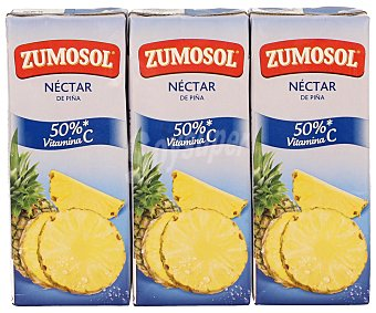 Zumosol Néctar de Piña 3 bricks de 200 ml