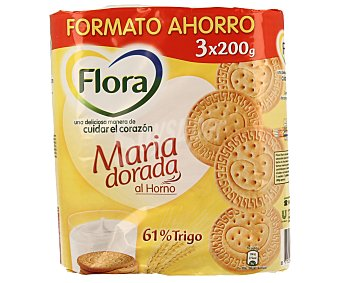FLORA Galleta María dorada al horno 600 g