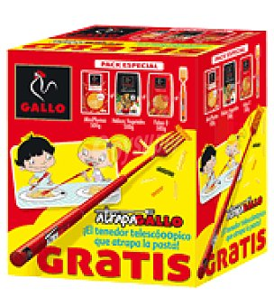 Gallo Pack atrápalo (miniplumas+hélices vegetales+fideos) Pack de 3x500 g