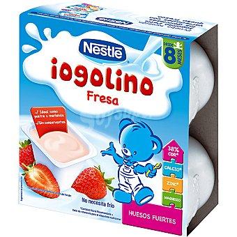 Iogolino Nestlé Postre Lácteo de Fresa 4 unidades de 100 g