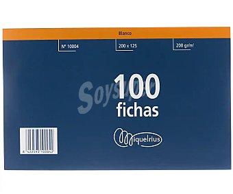 Miquel rius Paquete de fichas lisas, 200 gr, color blanco,125x200 mm. MIQUELRIUS. 200 gr