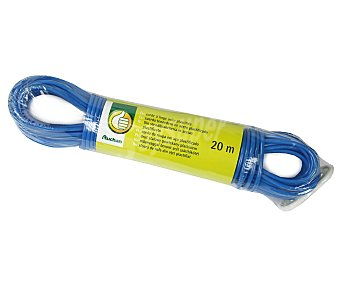 Productos Económicos Alcampo Bobina de cuerda para tender de acero plastificado, 20 metros 1 unidad