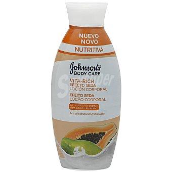 Johnson's Vitarich loción corporal efecto seda papaya Bote 400 ml