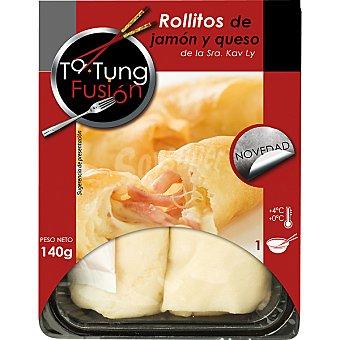 Ta Tung Rollitos de jamon y queso Bandeja 120 g