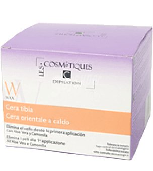 Les Cosmetiques Cera depilatoria tibia con miel y camomila Tarro de 250 ml