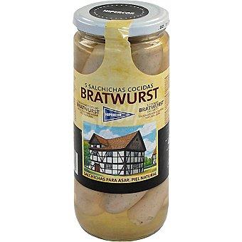 Hipercor Salchichas bratwurst 5 piezas Frasco 250 g neto escurrido