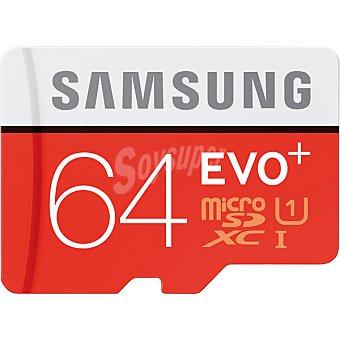 SAMSUNG Tarjeta de memoria MicroSDXC EVO+ de 64 GB