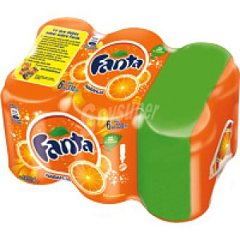 Fanta Refresco de naranja Pack 5+1x33 cl