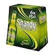 Cervezas con limón sin alcohol Pack 6 uds de 25 cl SHANDY Shandy