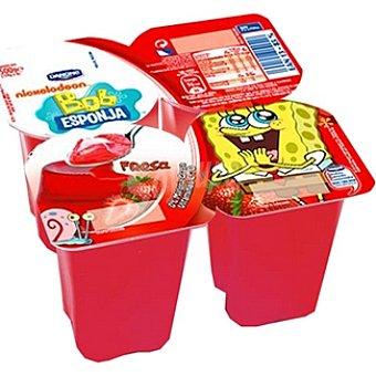 Danone Gelatina de fresa 0% materia grasa con vitaminas C y D Diver Mix Pack 4 unidades 125 g