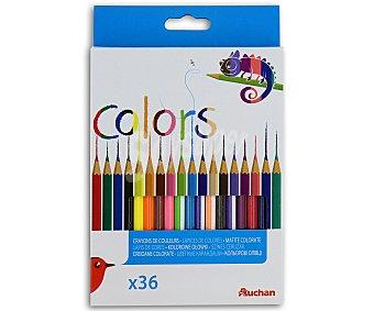 Auchan Caja de 36 Lápices de Colores 1 Unidad
