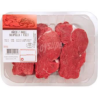 Gourmet Añojo solomillo Bandeja 400 g peso aprox. (3 unidades)