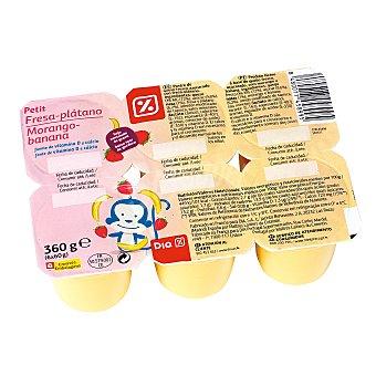 DIA Petit suisse fresa-plátano Pack 6 unidades 60 g