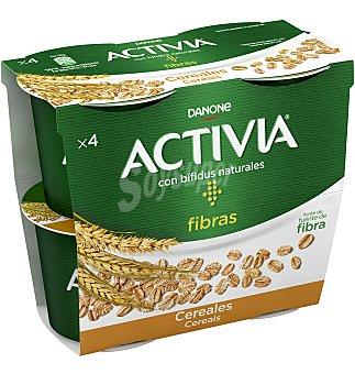 Activia Danone Bífidus de origen natural con sabor natural y cereales 4 x 120 g