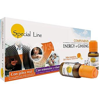 Special Line Complemento energético con jalea real y ginseng sabor mandarina Estuche 10 unidades