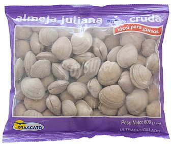 Mascato Almeja juliana congelada cruda Paquete 600 g