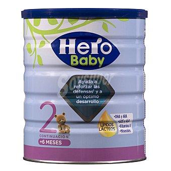 Hero Baby Leche 2 de continuación en polvo Nutrasense desde 6 meses Bote 800 g