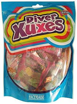 Hacendado Surtido diverxuxes (escalofrio, bolsa golosinas, frutixuxes, pastillitas, golosina envuelta y golosina fresa) Paquete 300 g