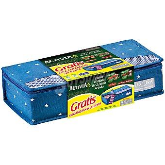 Danone Activia Yogur con fresas + yogur con frutas del bosque pack 4 unidades 125 g con regalo organizador de ropa Pack 4