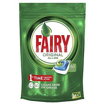 Fairy Detergente lavavajillas todo en 1 original Envase 60 pastillas