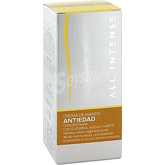 All Intense Crema de manos anti-edad concentrada con glicerina avena y karité Tubo 50 ml