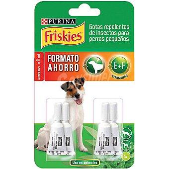 Gotas repelentes de insectos para perros pequeños 4 pipetas 1 ml