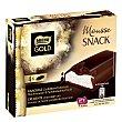 Mousse Snack barritas de mousse de leche con coulis de chocolate y crujiente capa de chocolate negro Pack 4 x 30 g Nestlé Gold