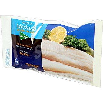 El Corte Inglés Filetes de merluza sin piel Bolsa 400 g neto escurrido