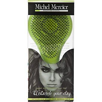 MICHEL MERCIER Cepillo del pelo con 428 puas distribuidas geometricamente y a diferentes alturas blister 1 unidad logra un cepillado perfecto sencillo y agradable no mas tirones 1 unidad