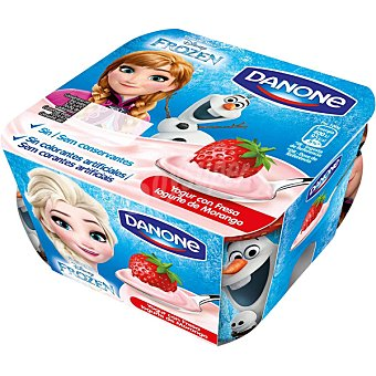 Danone yogur con fresa edición Frozen  pack 4 unidades 100 g
