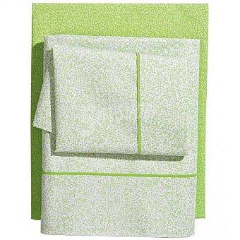 CASACTUAL Pétalos Juego de cama estampado en color verde para cama 105 cm