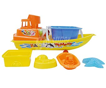EURASPA Conjunto de juguetes de playa compuesto por una lancha + accesorios 1 unidad