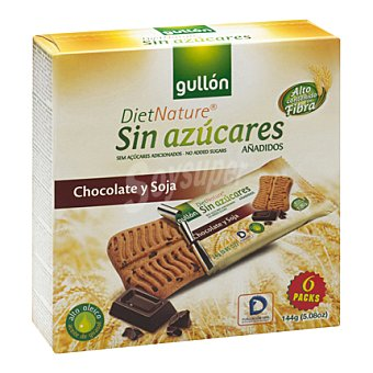 Gullón Galleta snack chocolate y soja Diet Nature 144 g