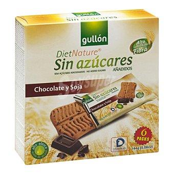 Gullón Galleta snack chocolate y soja Diet Nature 144 g