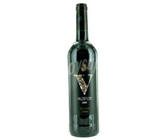 VALDEFLOR Vino tinto reserva con denominación de origen Campo de Borja 75 Centilitros