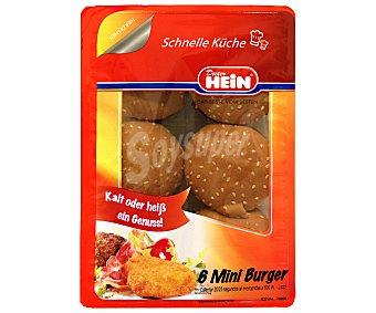 Dieter Hein Burger Mini Asada 6 Unidades 300 Gramos
