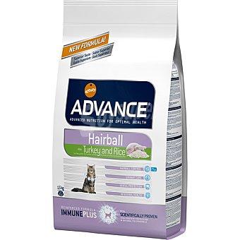 Advance Affinity Hairball adult pienso de alta gama para gatos adultos para prevenir bolas de pelo bolsa 1,5 kg rico en pavo y arroz Bolsa 1,5 kg