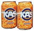 Refresco de naranja con gas LATA PACK 8 x 330 cc - 2640 cc Kas
