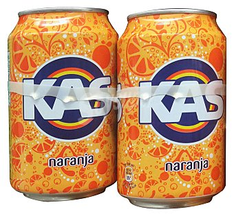KAS Refresco de naranja con gas LATA PACK 8 x 330 cc - 2640 cc