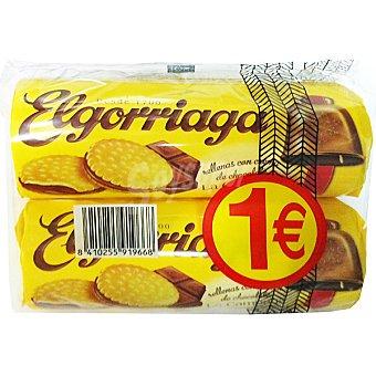 Elgorriaga galletas rellenas con crema de chocolate La Campana  pack 2 paquete 180 g