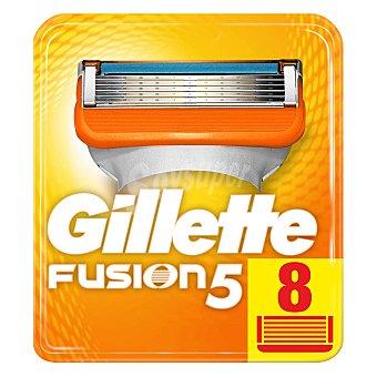 Gillette Fusion Recambio de cuchillas de cinco hojas para maquinilla de afeitar 5 8 uds