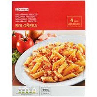 Eroski Macarrones a la boloñesa Bandeja 300 g