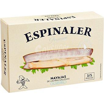 Espinaler Navajas al natural de las rias gallegas 3-5 piezas lata 65 g neto escurrido Lata 65 g neto escurrido