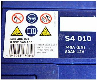 Bosch Batería de automóvil de 12v, y 80Ah, con potencia de arranque de 740 Amperios y medidas de 315x175x175 milímetros 1 unidad