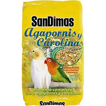 San Dimas Alimento completo para agapornis y carolinas Paquete 1 kg