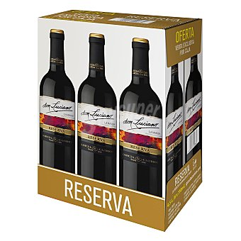 Don Luciano Vino tinto reserva D.O La Mancha Pack de 6 botellas de 75 cl