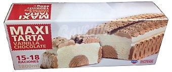 Hacendado Helado tarta vainilla-chocolate maxi (15-18 porciones) Paquete de 1800 ml