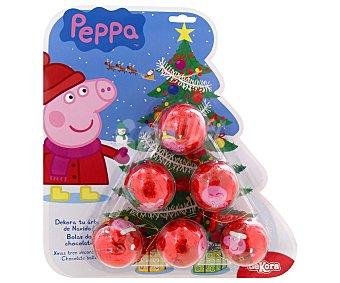 PEPPA PIG Bolas de Navidad de chocolate con leche 75 gramos