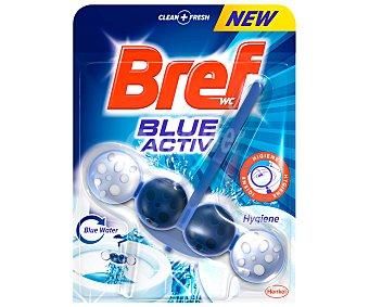 Bref WC Colgador con efecto limpiador y desinfectante del WC, que tiñe el agua del inhodoro de color azul 1 unidad
