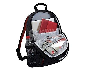 "PORT HOUSTON Mochila Backpack, negra, compatible con portátiles de hasta 15,6"""